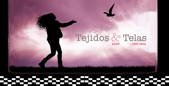 Banner tienda online tejidosytelas.com